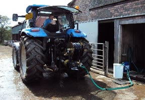 Tractor with PTO equipment